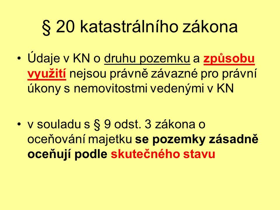 § 20 katastrálního zákona
