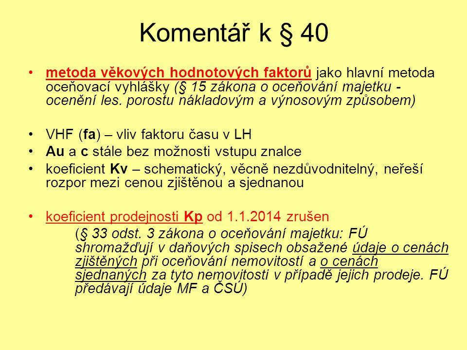 Komentář k § 40