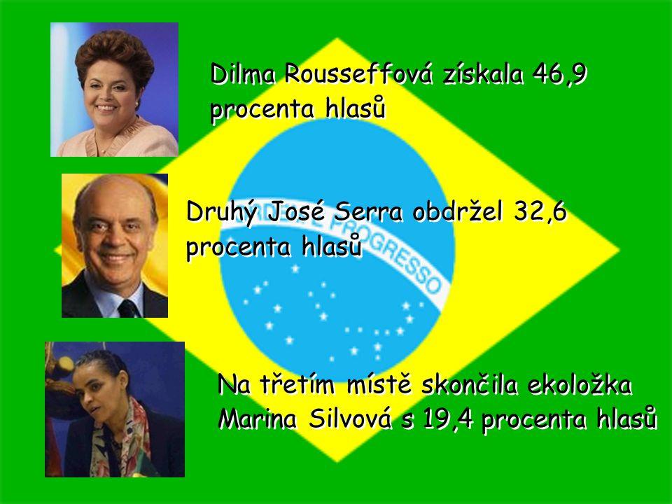 Dilma Rousseffová získala 46,9