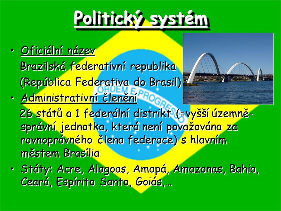 Politický systém Oficiální název Brazilská federativní republika