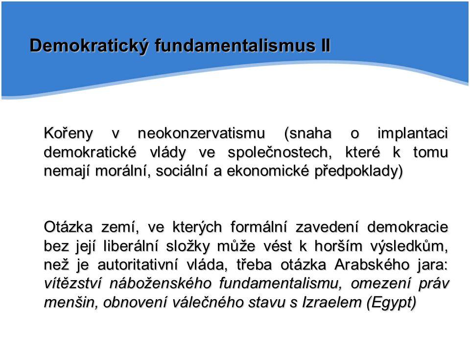 Demokratický fundamentalismus II