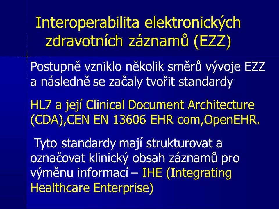 Interoperabilita elektronických zdravotních záznamů (EZZ)