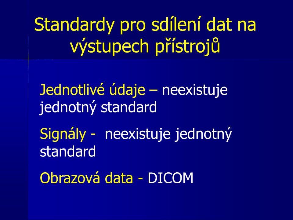 Standardy pro sdílení dat na výstupech přístrojů