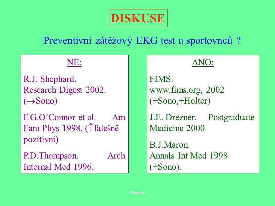 Preventivní zátěžový EKG test u sportovnců