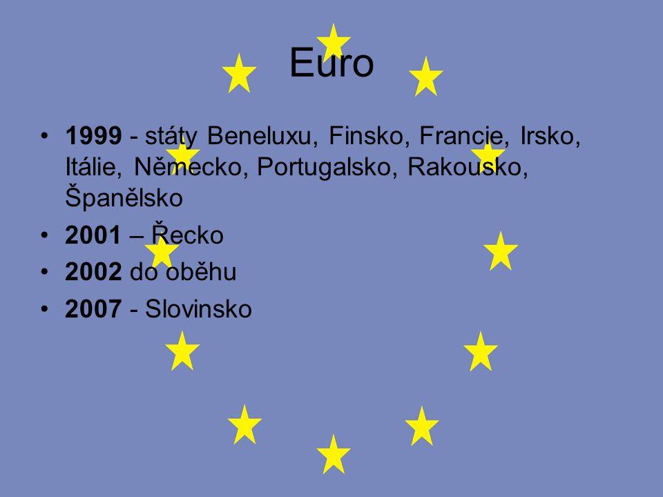 Euro 1999 - státy Beneluxu, Finsko, Francie, Irsko, Itálie, Německo, Portugalsko, Rakousko, Španělsko.