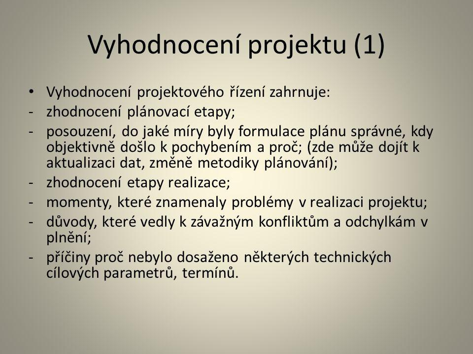 Vyhodnocení projektu (1)