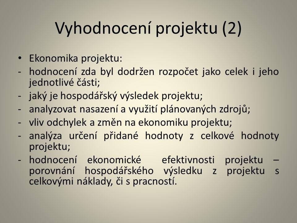 Vyhodnocení projektu (2)