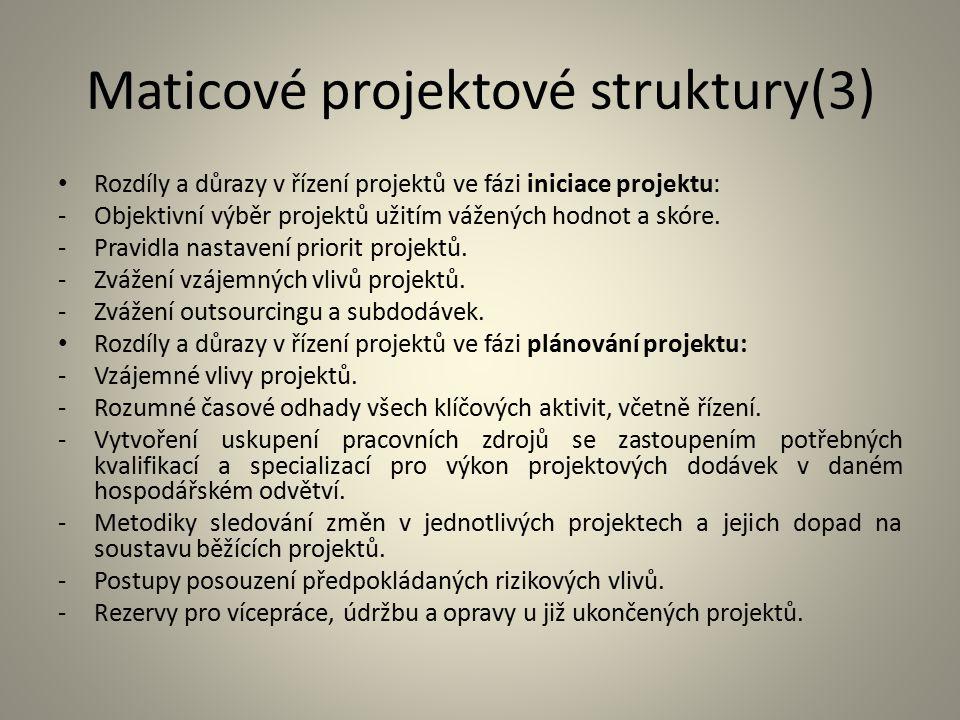 Maticové projektové struktury(3)