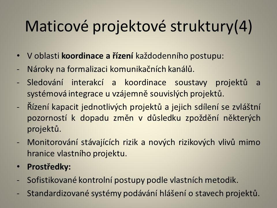 Maticové projektové struktury(4)