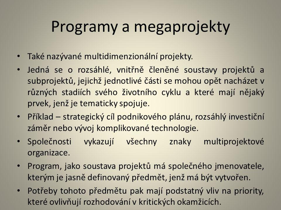 Programy a megaprojekty