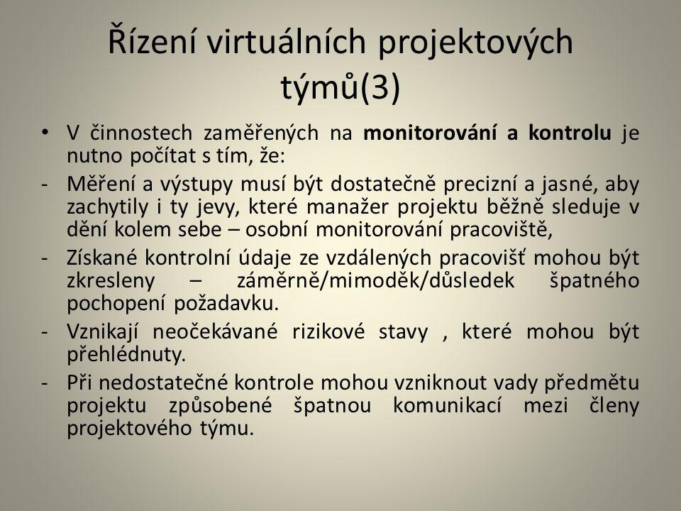 Řízení virtuálních projektových týmů(3)