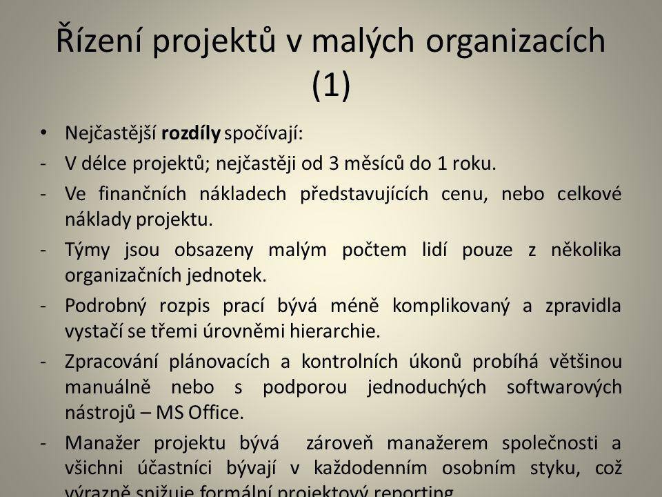 Řízení projektů v malých organizacích (1)