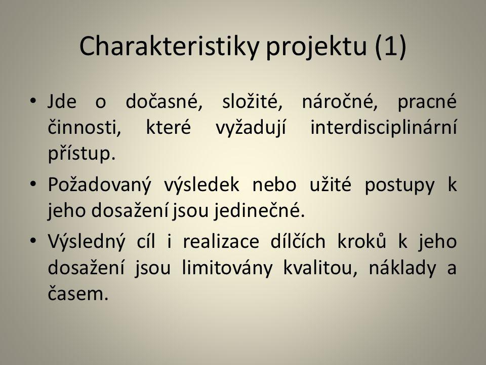 Charakteristiky projektu (1)