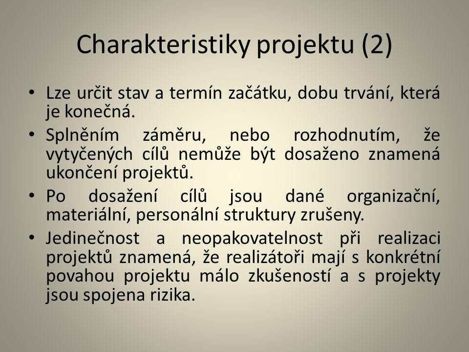 Charakteristiky projektu (2)