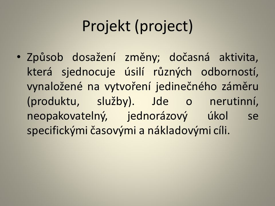 Projekt (project)