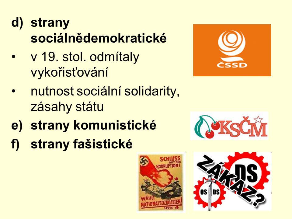 strany sociálnědemokratické