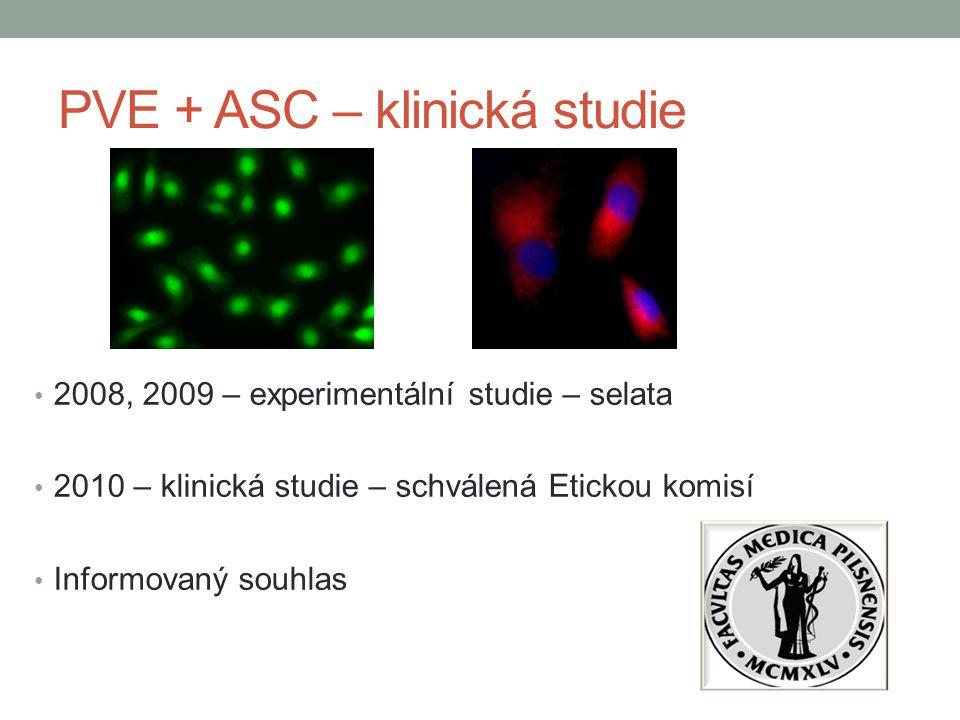 PVE + ASC – klinická studie