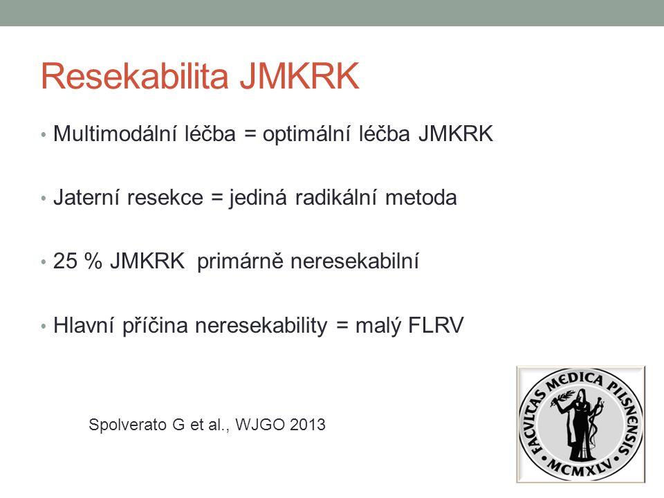 Resekabilita JMKRK Multimodální léčba = optimální léčba JMKRK
