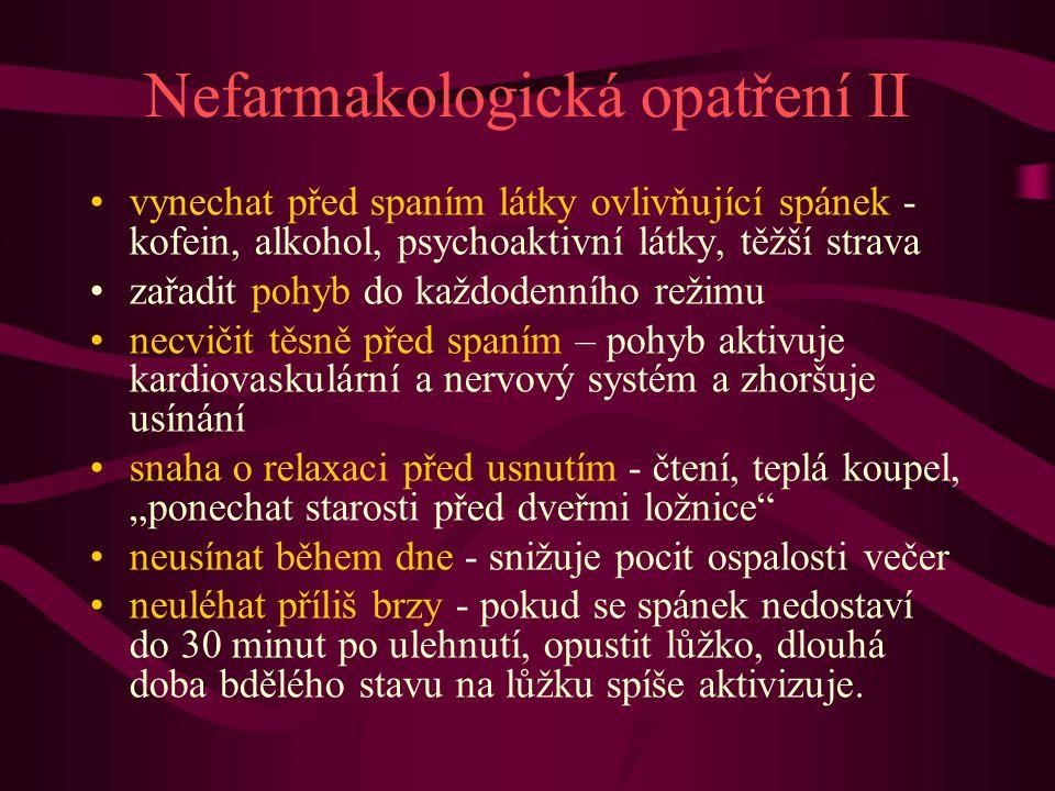 Nefarmakologická opatření II