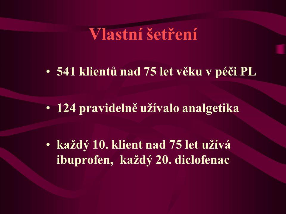 Vlastní šetření 541 klientů nad 75 let věku v péči PL