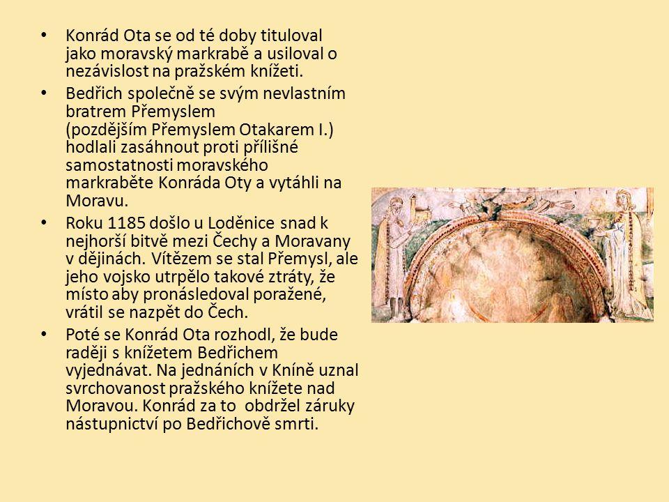 Konrád Ota se od té doby tituloval jako moravský markrabě a usiloval o nezávislost na pražském knížeti.