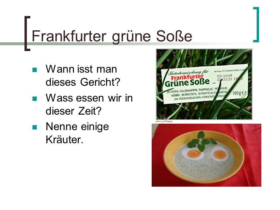 Frankfurter grüne Soße