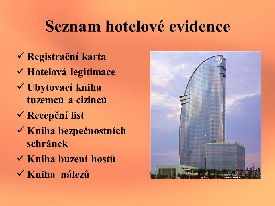 Seznam hotelové evidence