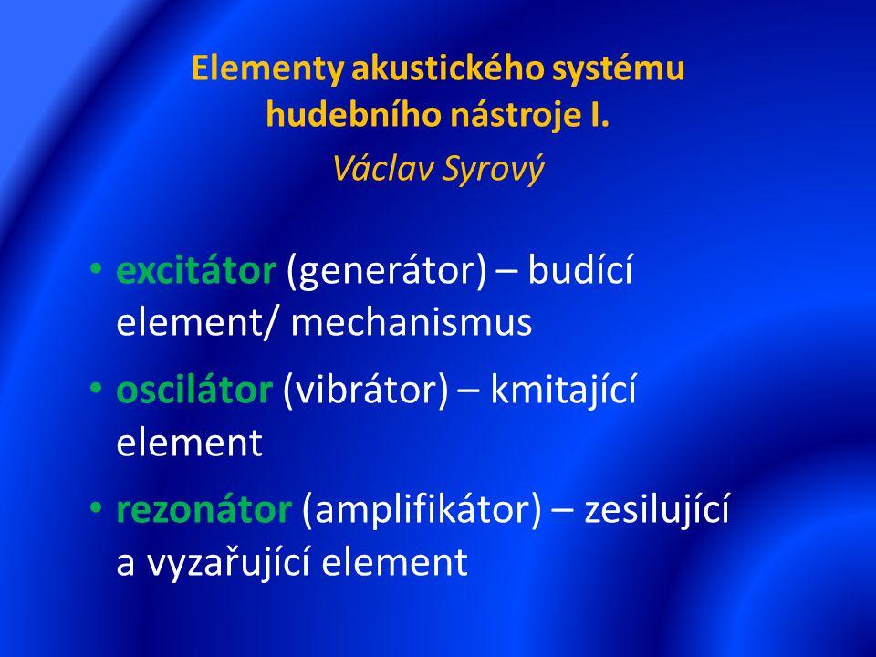 Elementy akustického systému