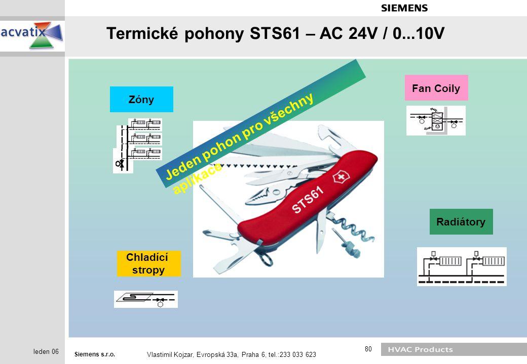 Termické pohony STS61 – AC 24V / 0...10V