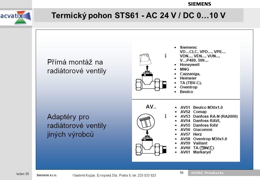 Přímá montáž na radiátorové ventily
