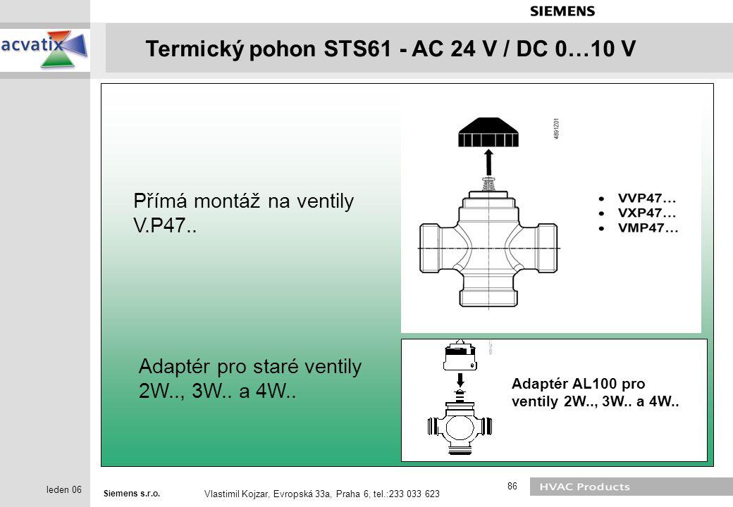 Přímá montáž na ventily V.P47..