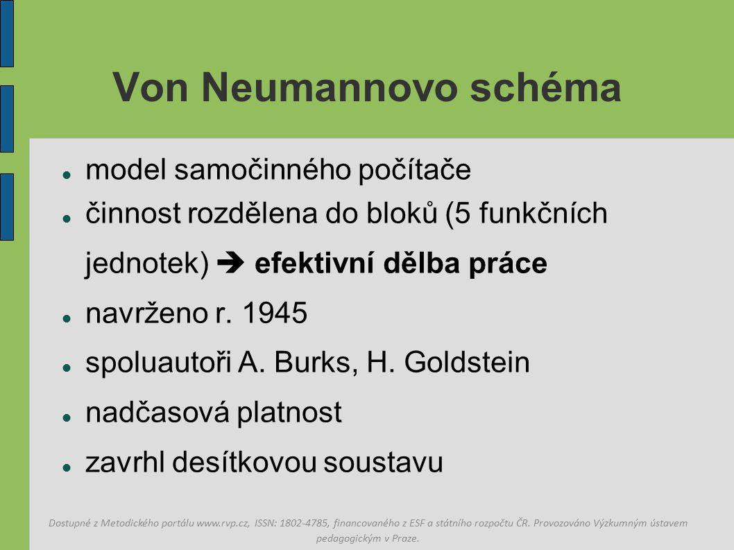 Von Neumannovo schéma model samočinného počítače