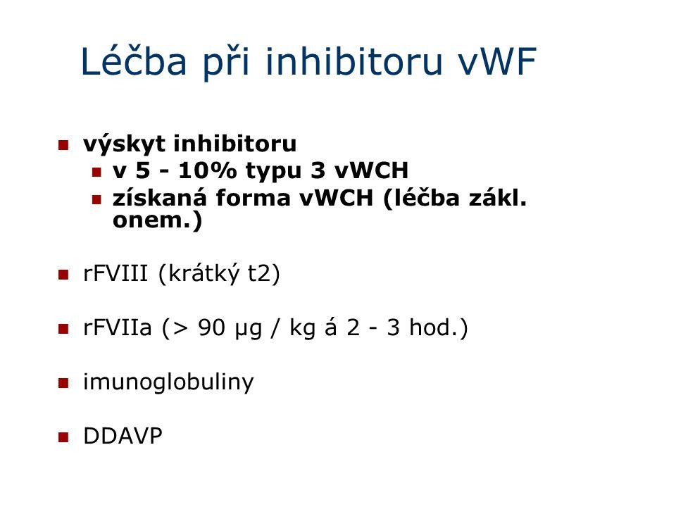 Léčba při inhibitoru vWF