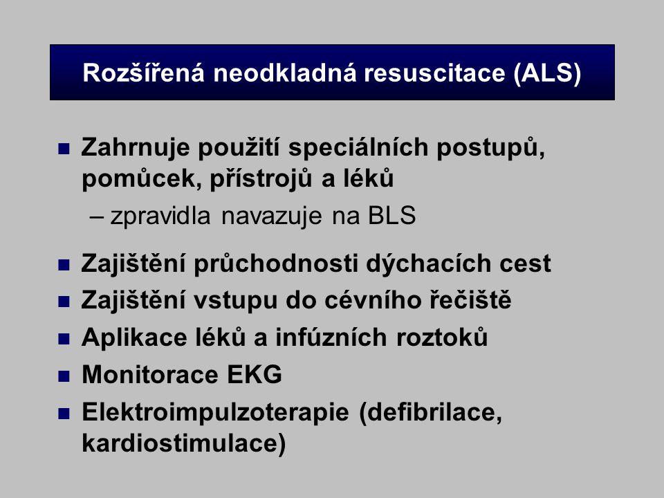 Rozšířená neodkladná resuscitace (ALS)