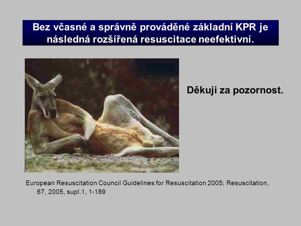Bez včasné a správně prováděné základní KPR je následná rozšířená resuscitace neefektivní.