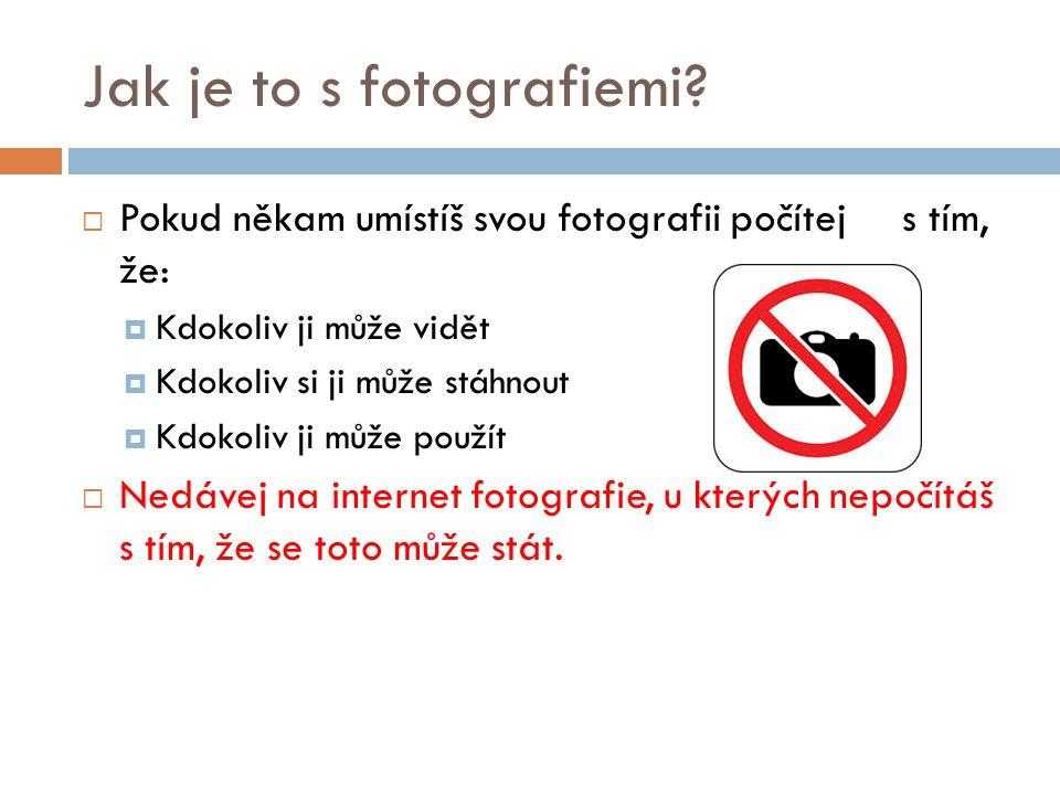 Jak je to s fotografiemi