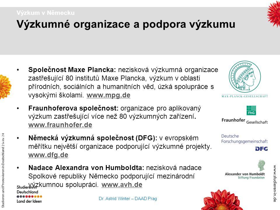 Výzkumné organizace a podpora výzkumu