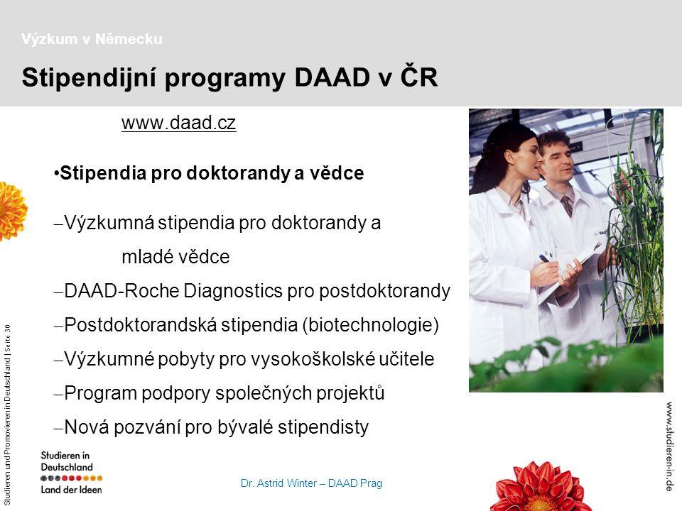Stipendijní programy DAAD v ČR