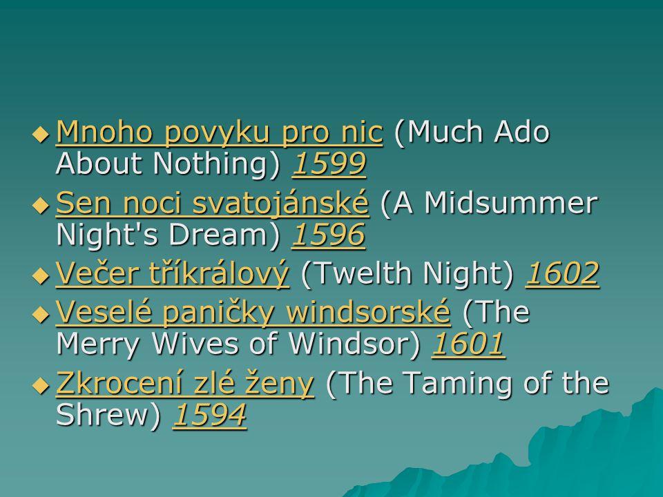 Mnoho povyku pro nic (Much Ado About Nothing) 1599