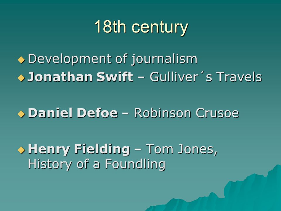 18th century Development of journalism