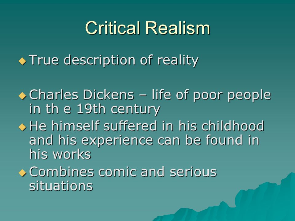 Critical Realism True description of reality
