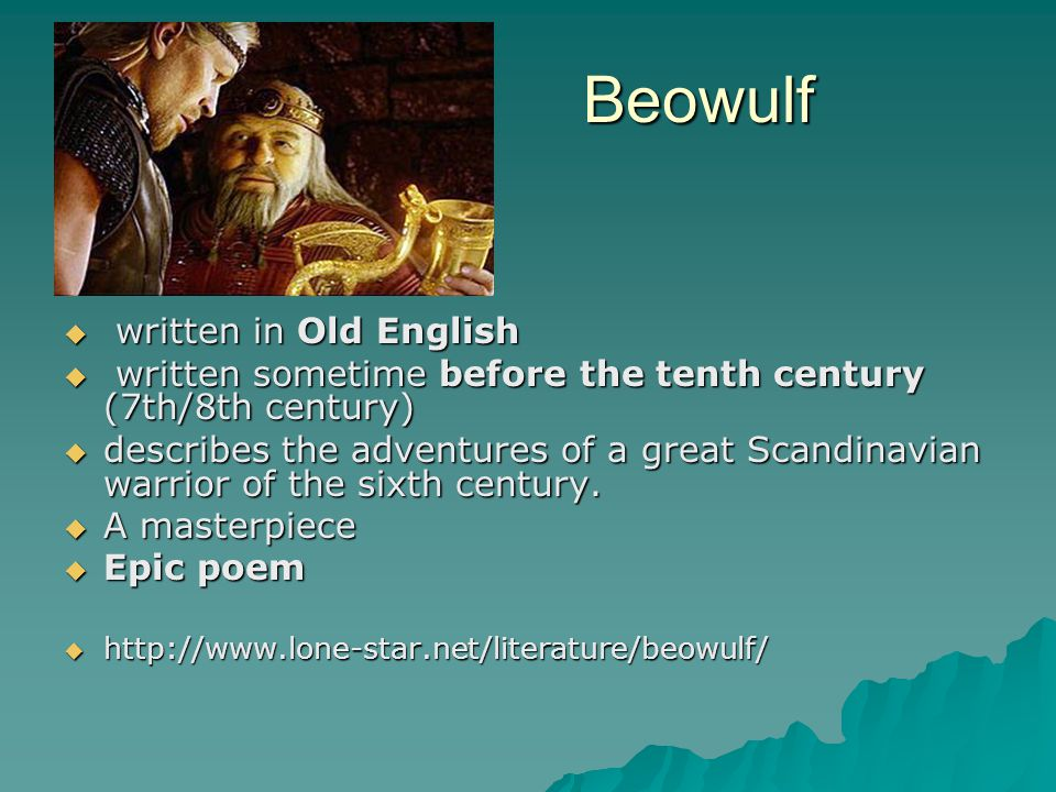 Beowulf written in Old English