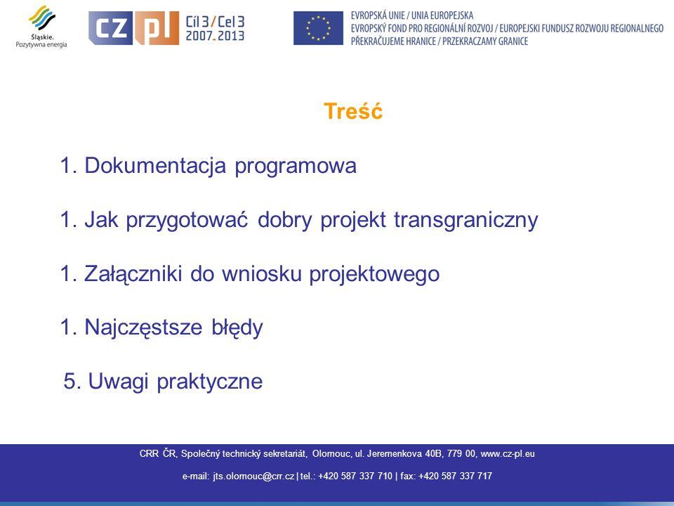 Dokumentacja programowa Jak przygotować dobry projekt transgraniczny