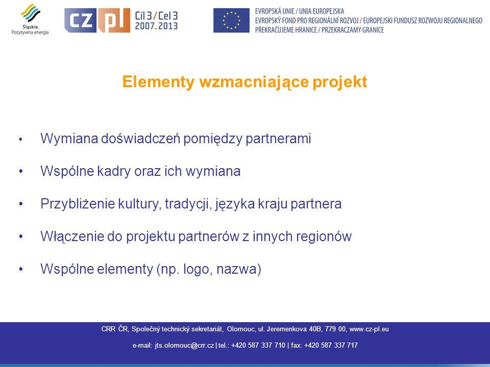 Elementy wzmacniające projekt