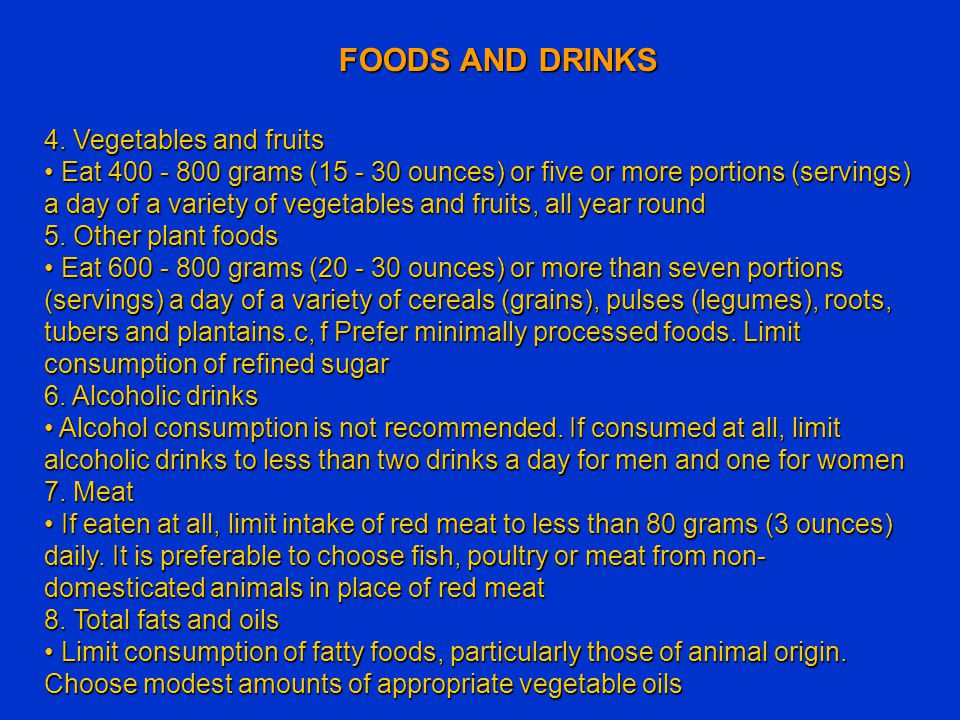 FOODS AND DRINKS 4. Vegetables and fruits
