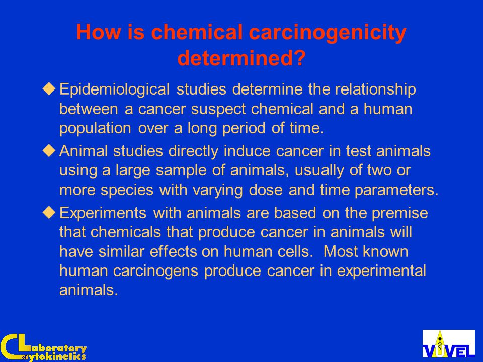 How is chemical carcinogenicity determined