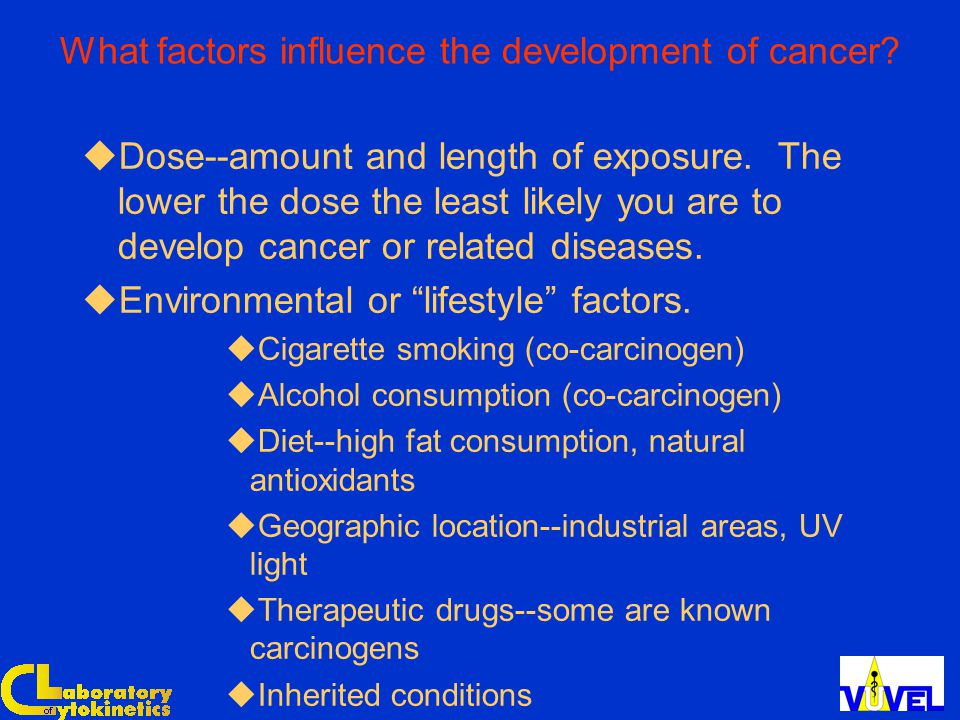What factors influence the development of cancer