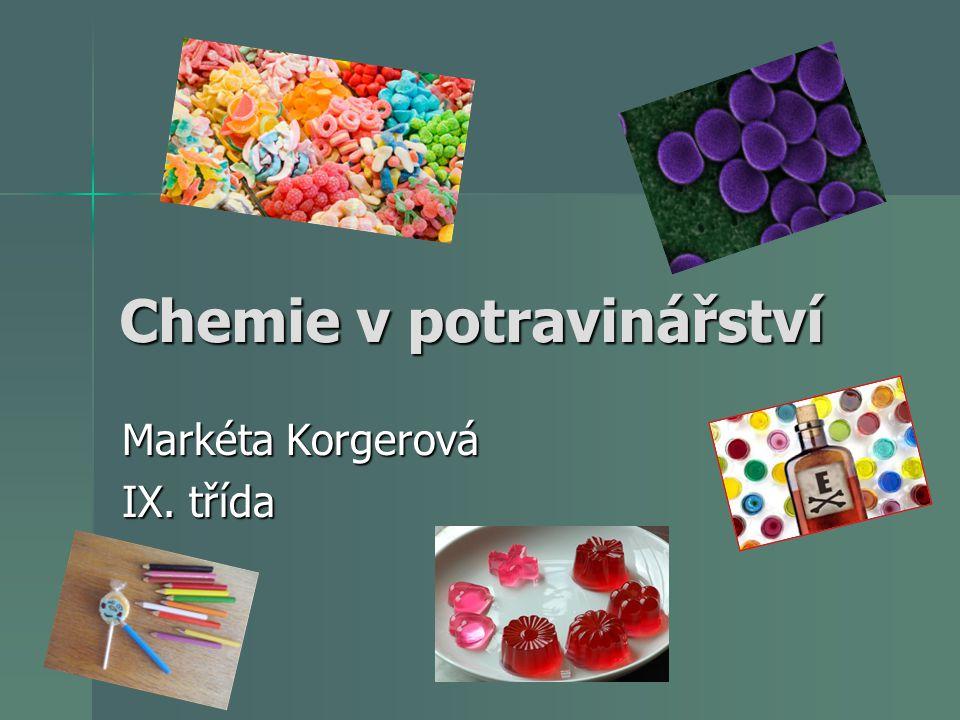 Chemie v potravinářství