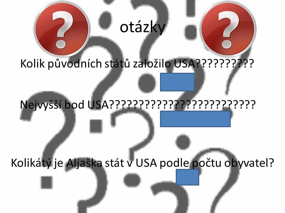 otázky Kolik původních států založilo USA 12