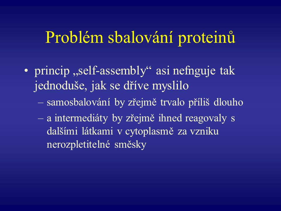 Problém sbalování proteinů